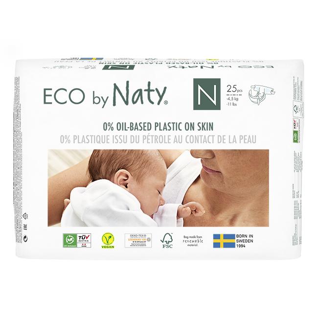 Naty - Ekologiska Blöjor Nyfödd Stl 0 (2-5 kg), 25 st 1