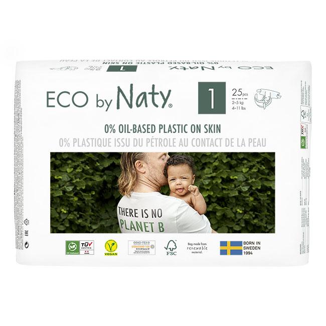 Naty - Ekologiska Blöjor Nyfödd Stl 1 (2-5 kg), 25 st 1