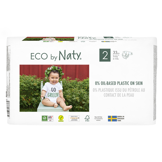 Naty - Ekologiska Blöjor Stl. 2 (3-6 kg), 33 st 1