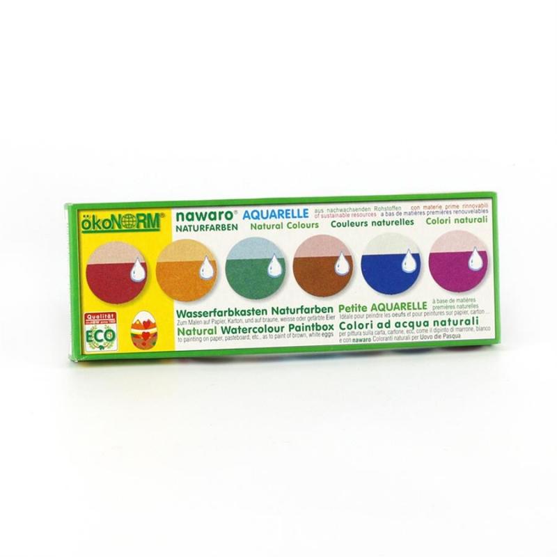 Vattenfärg / Äggfärg, 6 st Färger