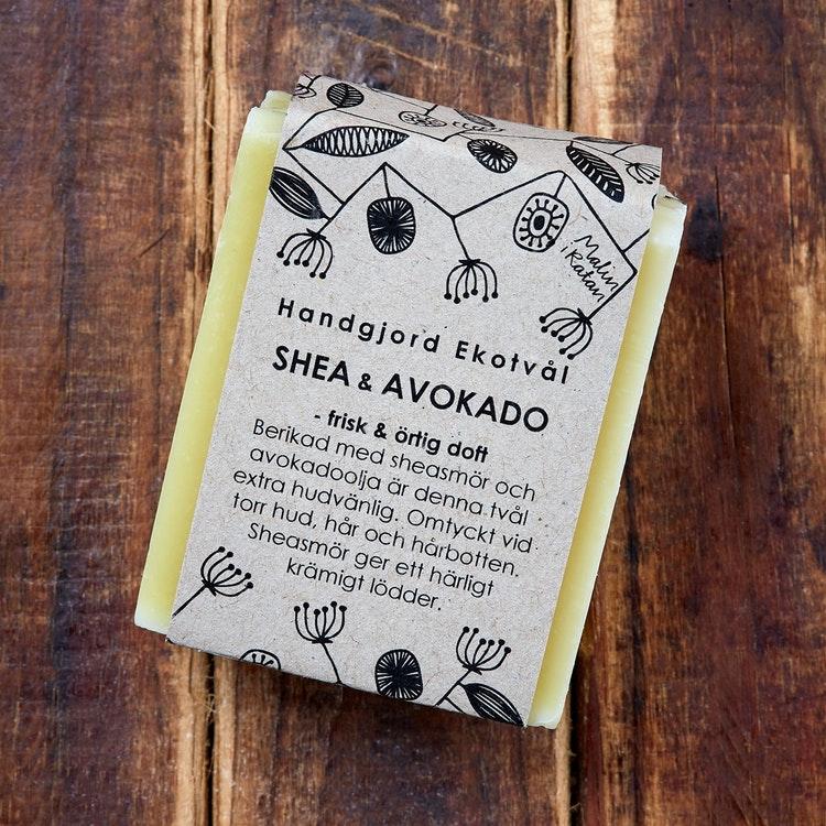 Malin i Ratan Ekologisk Tvål Shea & Avokado - Örtig Doft, 110 g 1
