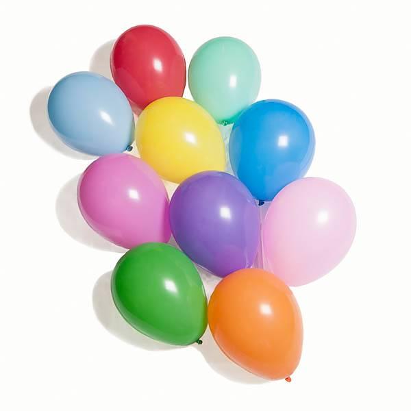 Ballonger i Naturgummi - 10 st olika färger 1