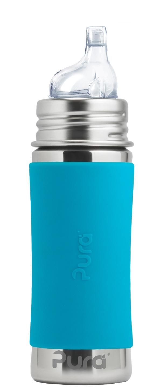 Pura - Pipmugg Rostfritt Stål med Silikonhölje 325 ml, Aqua 1