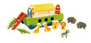 Noaks Ark i Trä med Djur