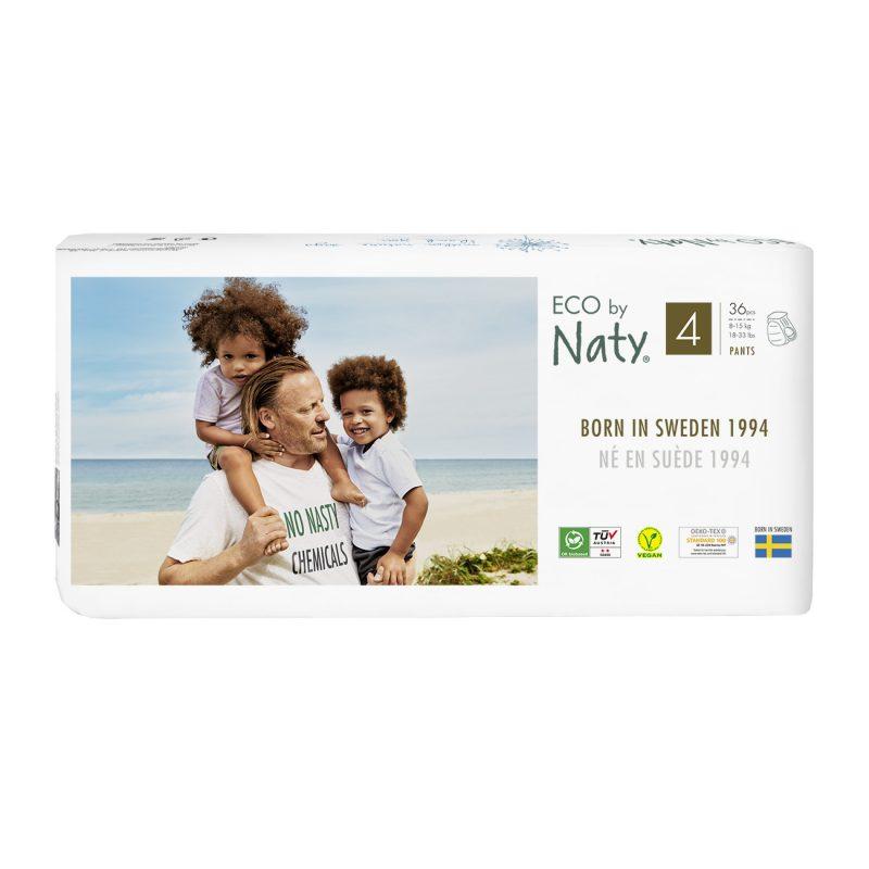 Naty - Ekologiska Blöjbyxor / Pull on Pants Stl. 4 (8-15 kg), 22 st 1