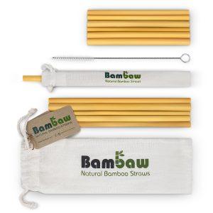 Sugrör i Ekologisk Bambu 14 cm + 22 cm