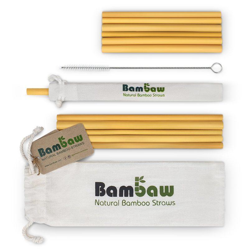 Bambaw - Sugrör i Ekologisk Bambu 14 cm + 22 cm 1