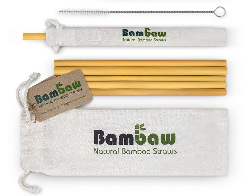Bambaw - Sugrör i Ekologisk Bambu 22 cm 1