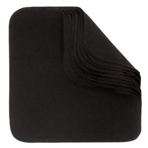 Ekologiska Tvättlappar Bomullsflanell Black 10-pack