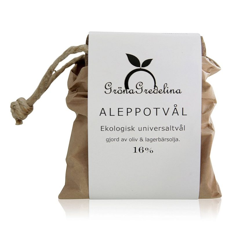Gröna Gredelina - Aleppotvål 16% Lagerolja 1