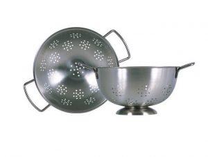 Colander / Durkslag med fot i rostfritt stål