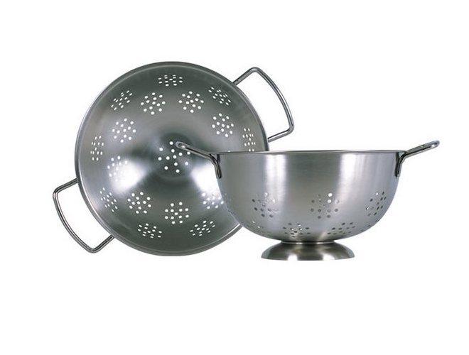 Colander / Durkslag med fot i rostfritt stål 1