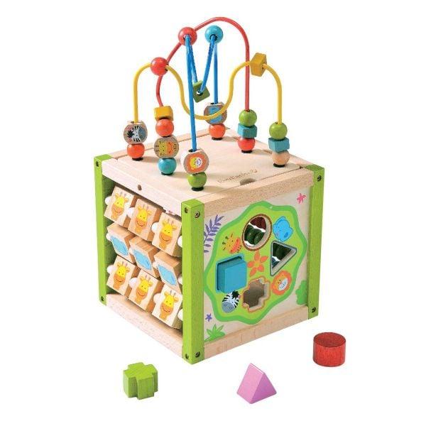 Ever Earth - Aktivitetskub i Trä Activity Cube 1
