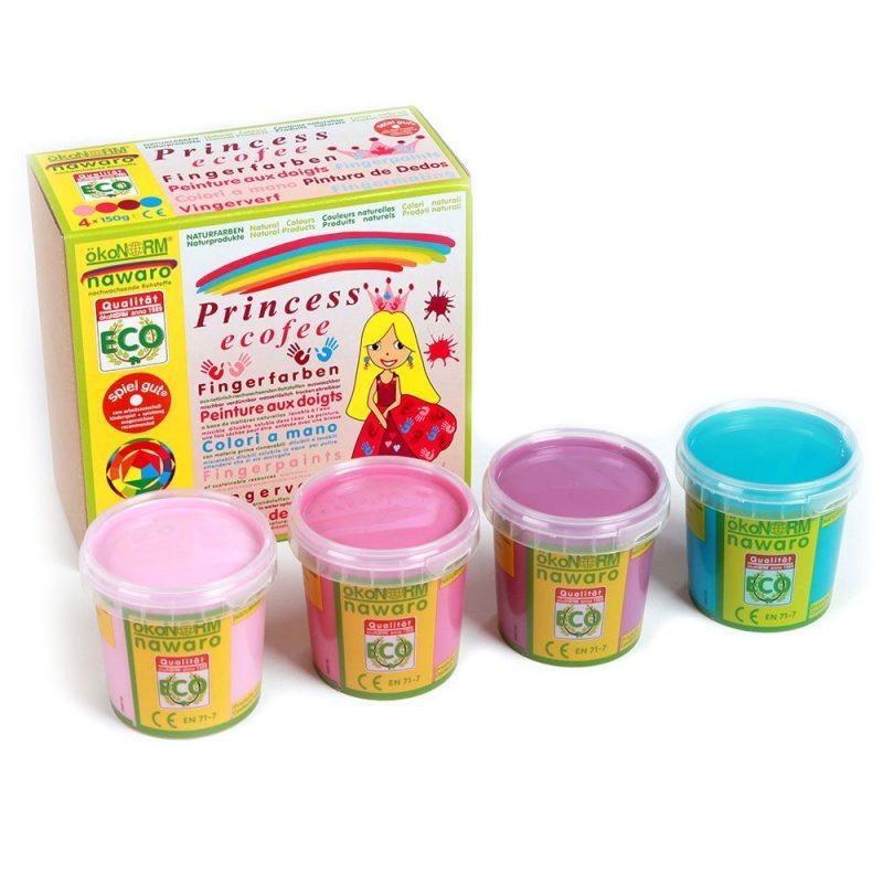 ökoNORM - Fingerfärg Pastellfärg Eco Princess, 4 st 1
