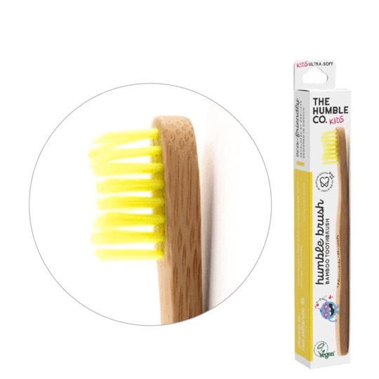 Humble Brush Ekologisk Tandborste Barn, Gul 1
