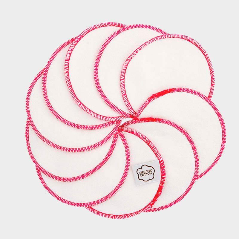ImseVimse - Ekologiska Rengöringspads Bomull Rosa 10-pack 1