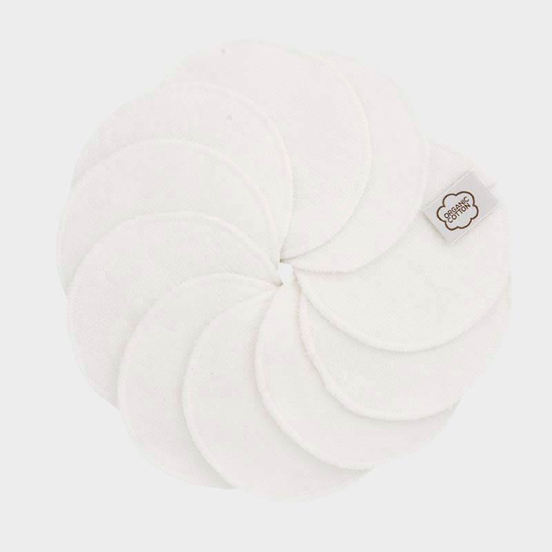 ImseVimse - Ekologiska Rengöringspads Bomull Naturvit 10-pack 1