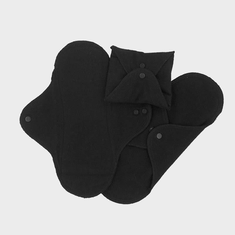ImseVimse - Ekologiska Trosskydd Bomull Black 3-pack 1