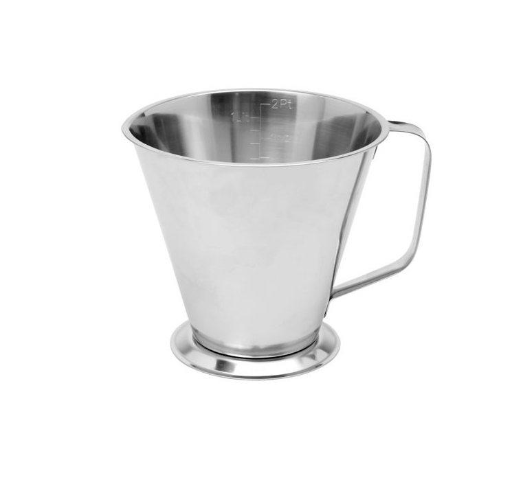 Köksmått i rostfritt stål med fot – 1 L