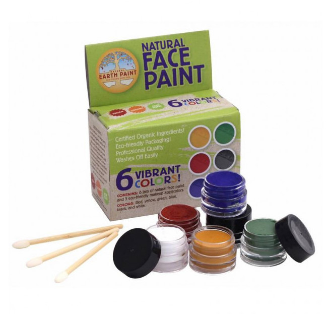 Natural Earth Paint Ekologisk & Naturlig Ansiktsfärg, 6-pack 1