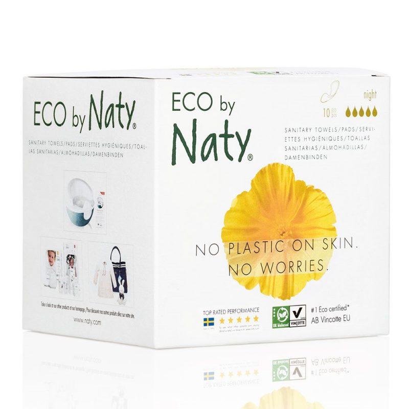 Naty Ekologisk Binda Natt med vingar, 10 st 1