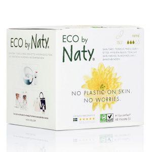 Naty Ekologisk Binda Normal utan vingar, 15 st