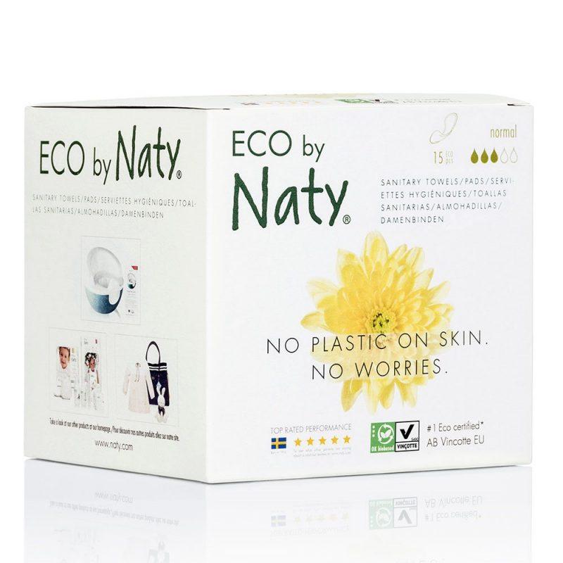 Naty Ekologisk Binda Normal utan vingar, 15 st 1