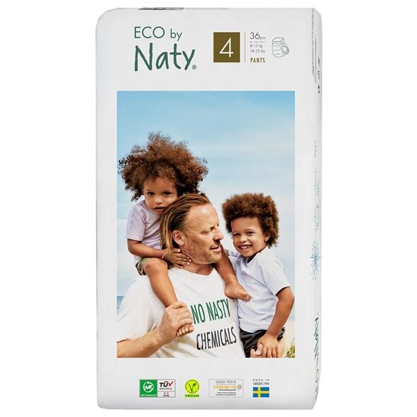 Naty - Ekologiska Blöjbyxor / Pull on Pants Stl. 4 (8-15 kg), 36 st 1