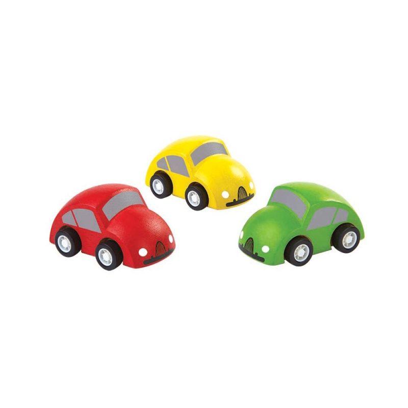 PlanToys - Småbilar i Trä, 3-pack 1
