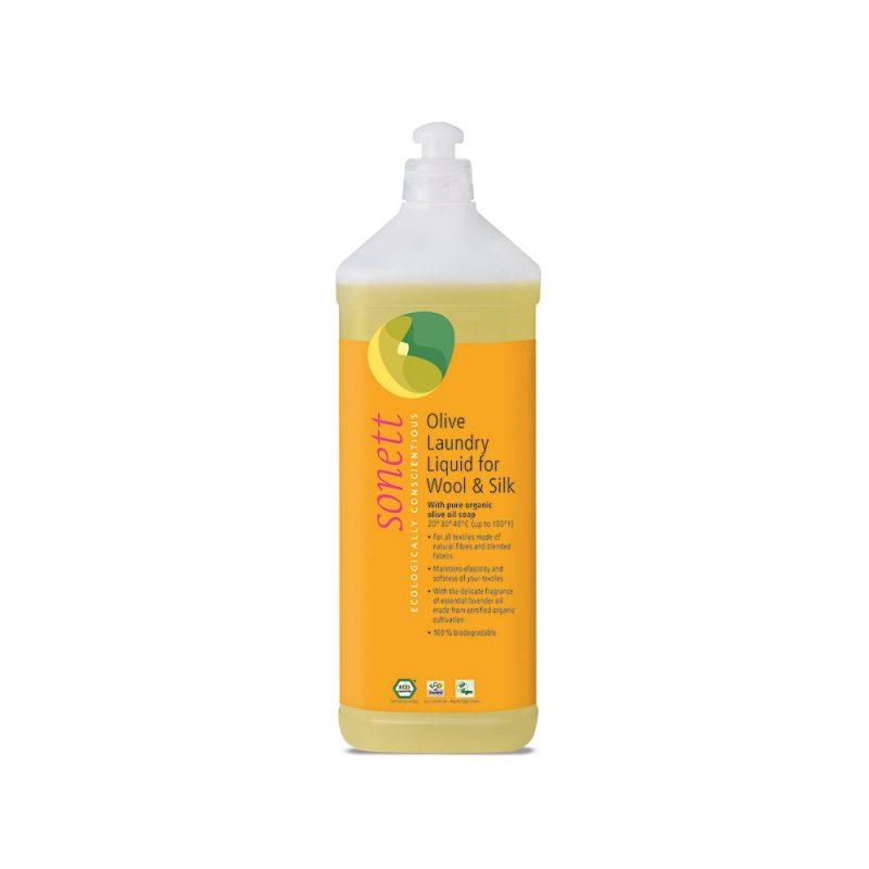 Sonett flytande tvättmedel för ull & silke lavendel 1