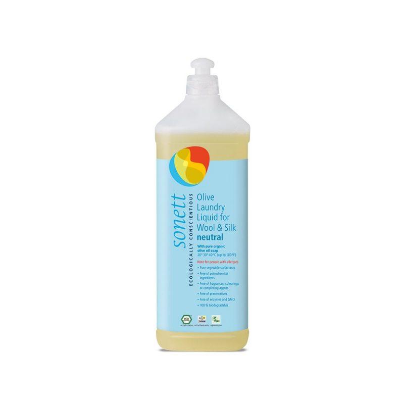 Sonett flytande tvättmedel för ull & silke utan doft 1