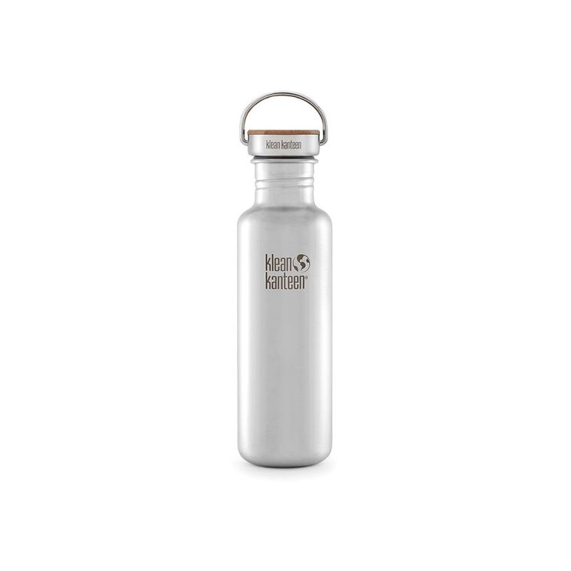 Klean Kanteen - Vattenflaska Rostfritt Stål Bambu Brushed Stainless 800 ml 1