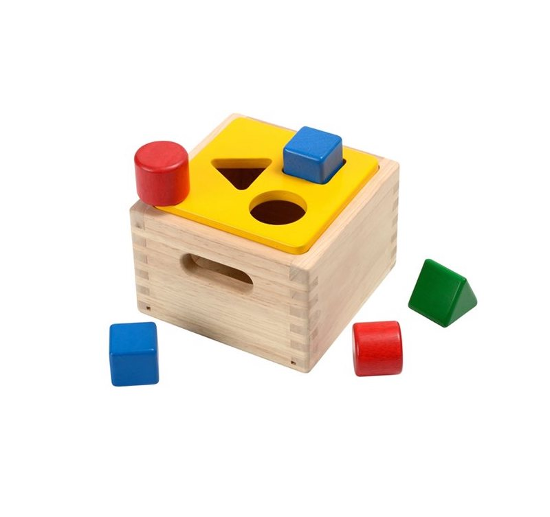 PlanToys - Plocklåda i Trä 1