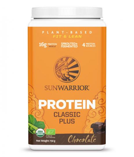 SunWarrior Classic PLUS Växtprotein Choklad 750g 1