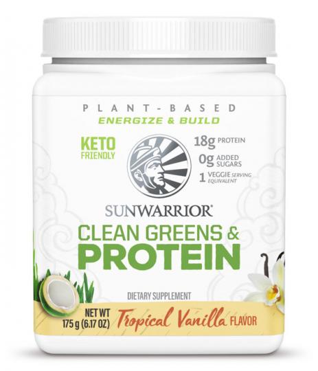 Sunwarrior Clean Greens & Protein Vanilj 175 g 1
