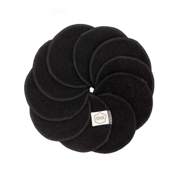 ImseVimse - Ekologiska Rengöringspads Bomull Black 10-pack 1