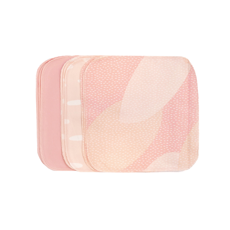 ImseVimse - Ekologiska Tvättlappar Bomullsflanell Pink Sprinkle 10-pack 1