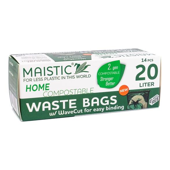 Maistic Avfallspåse 20 liter med Handtag, 14-pack 1