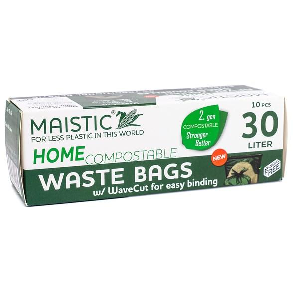 Maistic Avfallspåse 30 liter med Handtag, 10-pack 1