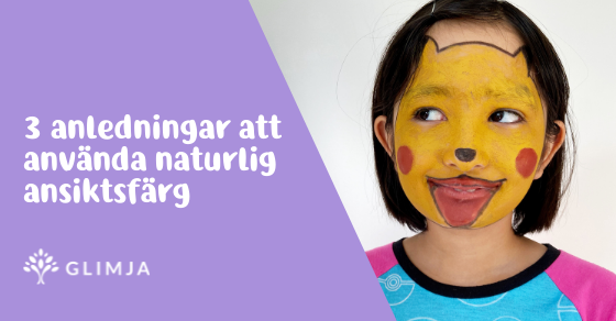 3 skrämmande anledningar att använda naturlig ansiktsfärg till Halloween 1